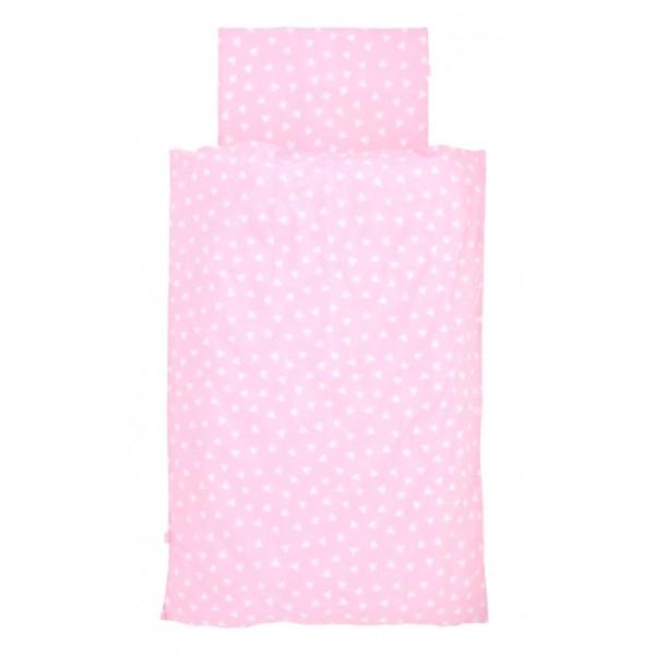 Jollein Overtrek Hearts pink 120x150cm