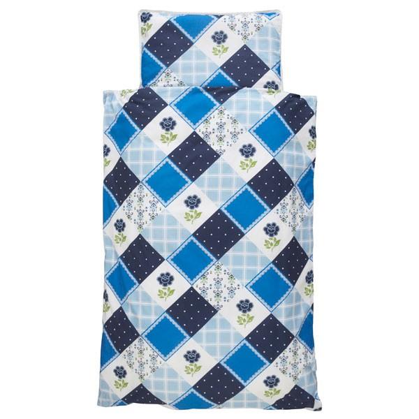Jollein Dekbedovertrek 120x150cm Flower patchwork blue