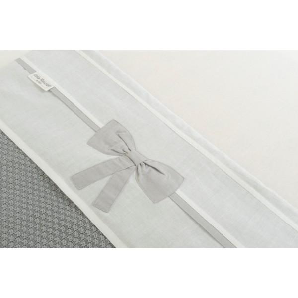 Jollein Laken LN 120x150cm Linen bow white grey