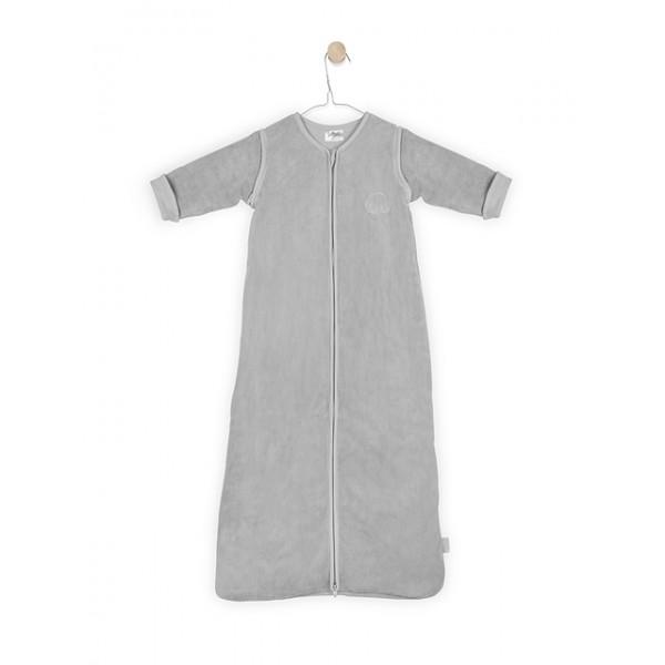 Jollein Slaapzak 4-seizoenen 90cm Comfy fleece grey afritsbare mouw