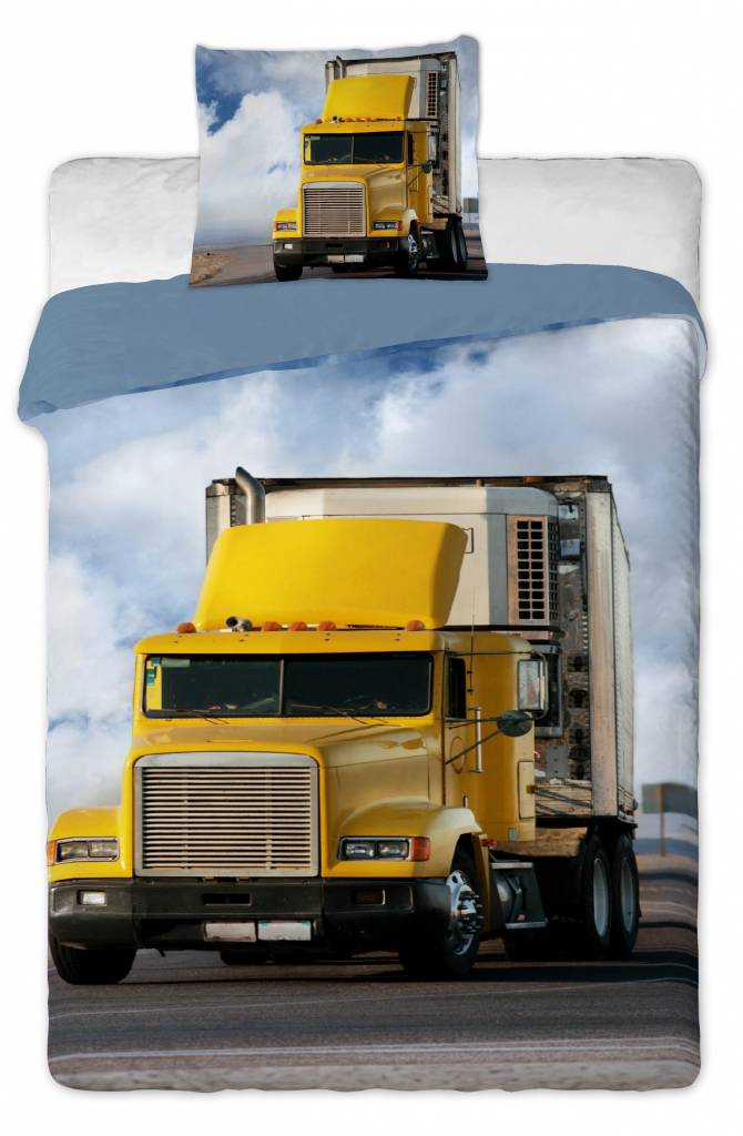Dekbedovertrek Truck 140x200 + 60x70cm