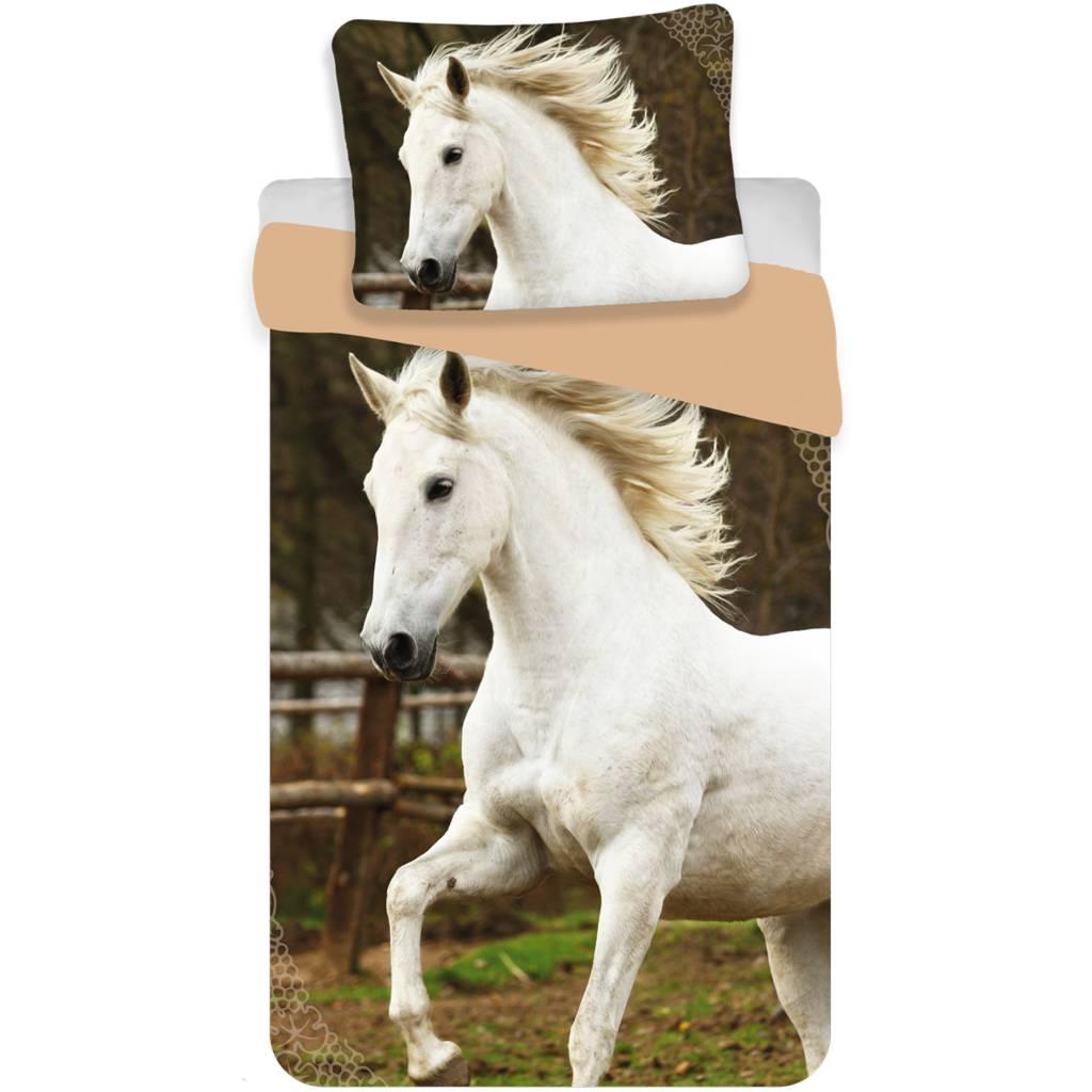 Dekbedovertrek Wit Paard