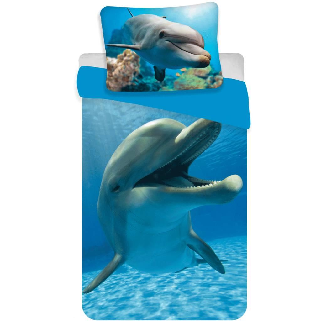 Animal Pictures Dekbedovertrek Dolfijn Multi