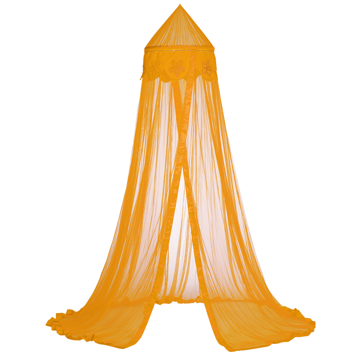 Taftan Klamboe Beads flower Oranje