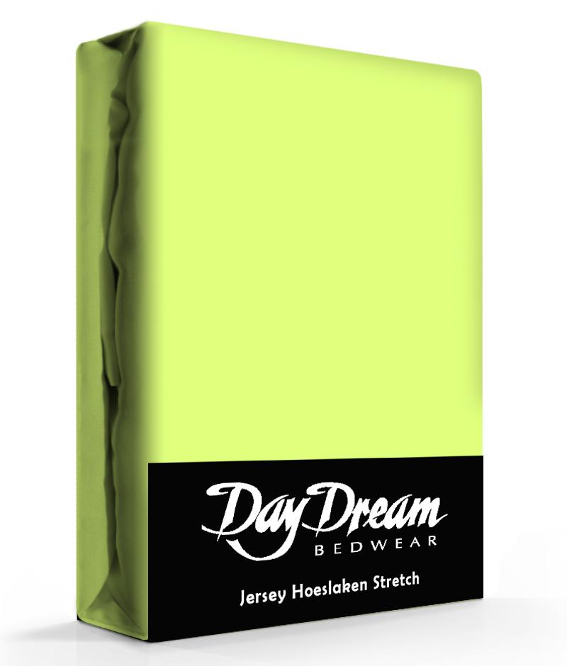 Jersey Hoeslaken Lime-90 x 200 cm