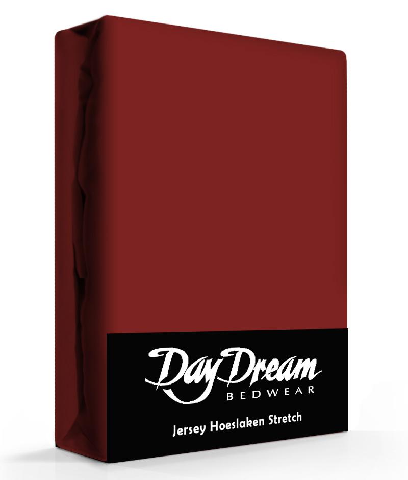 Day Dream Jersey Hoeslaken Bordeaux-90 x 200 cm