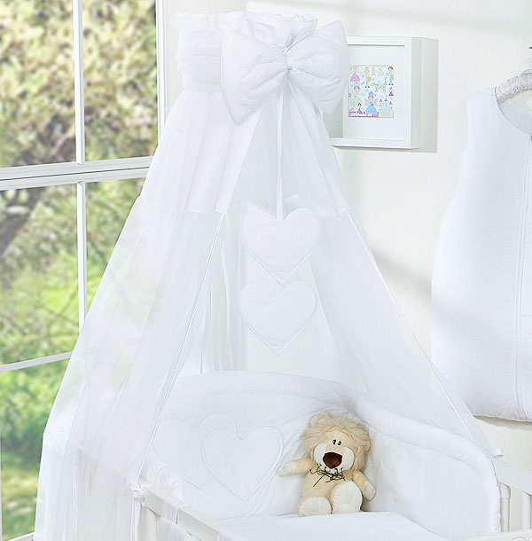 3-Delig Bedset Two Hearts Voile/Katoen Wit