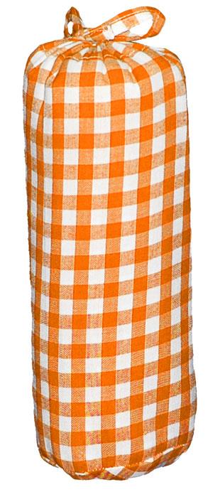 Taftan Hoeslaken grote ruit Oranje 90x200cm
