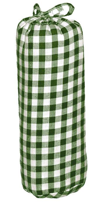 Taftan Hoeslaken grote ruit Groen 90x200cm