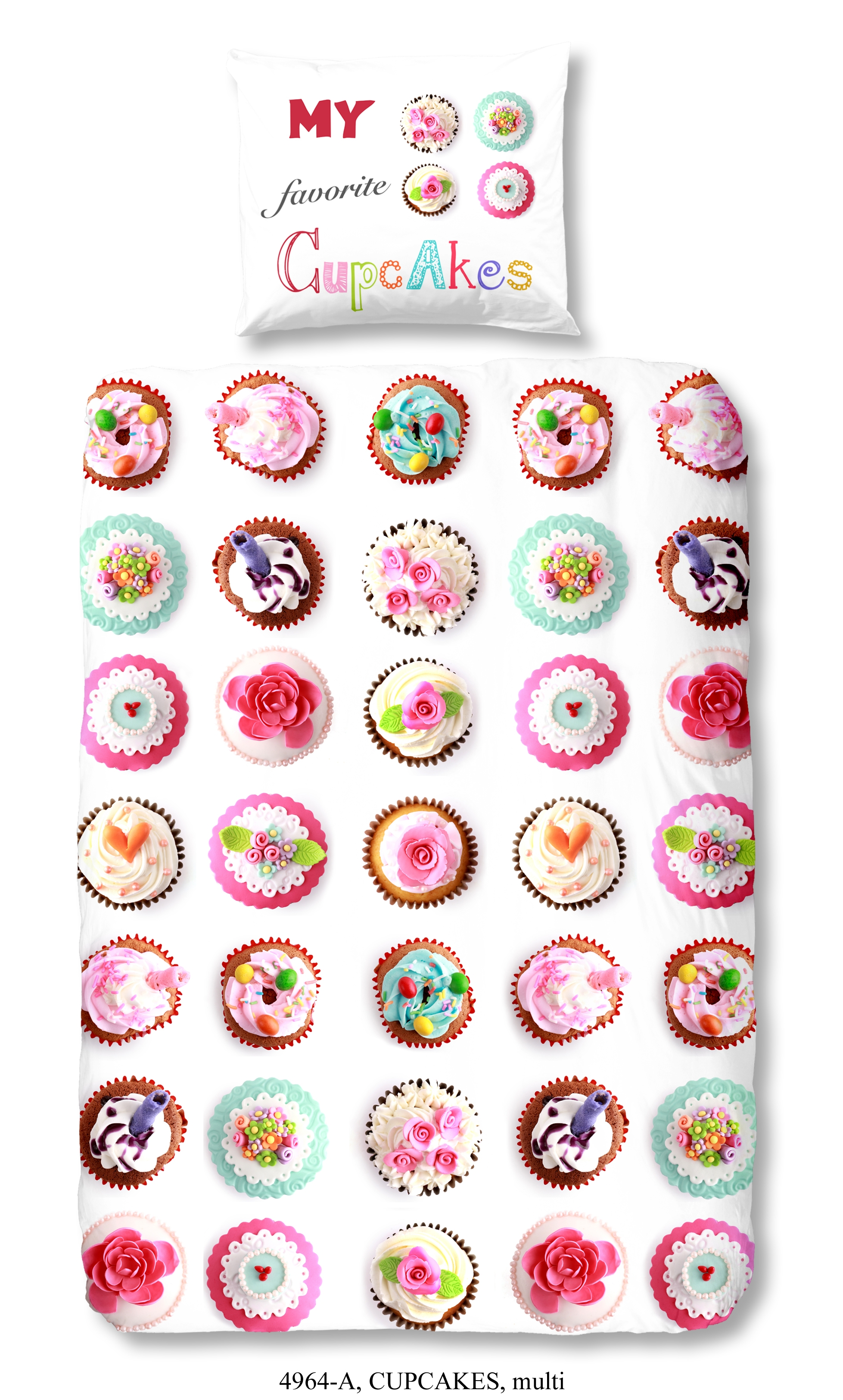 Kinderdekbedovertrek Cupcakes