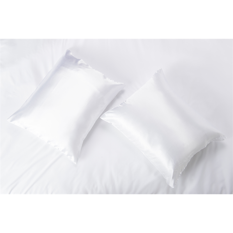 Nightlife Silk Satin Kussensloop White