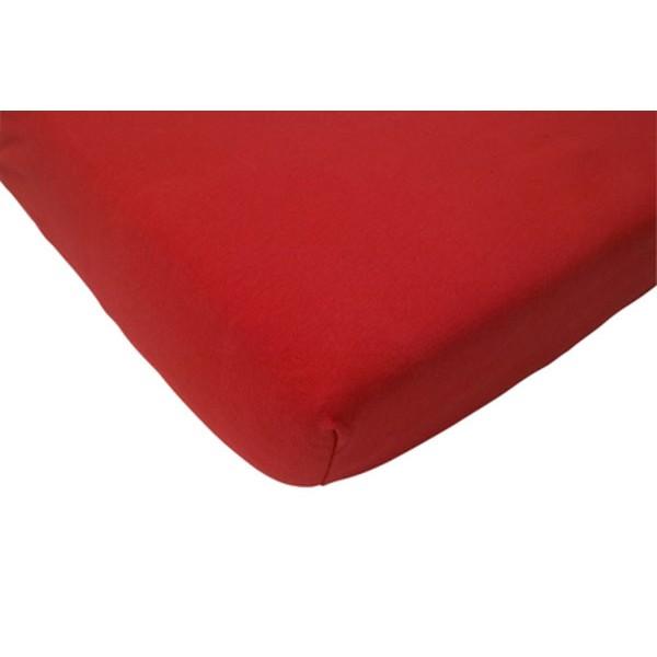 Jollein Hoeslaken katoen 60x120cm rood