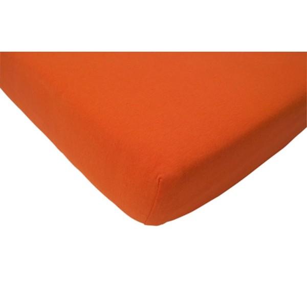 Jollein Hoeslaken katoen 70x140cm oranje