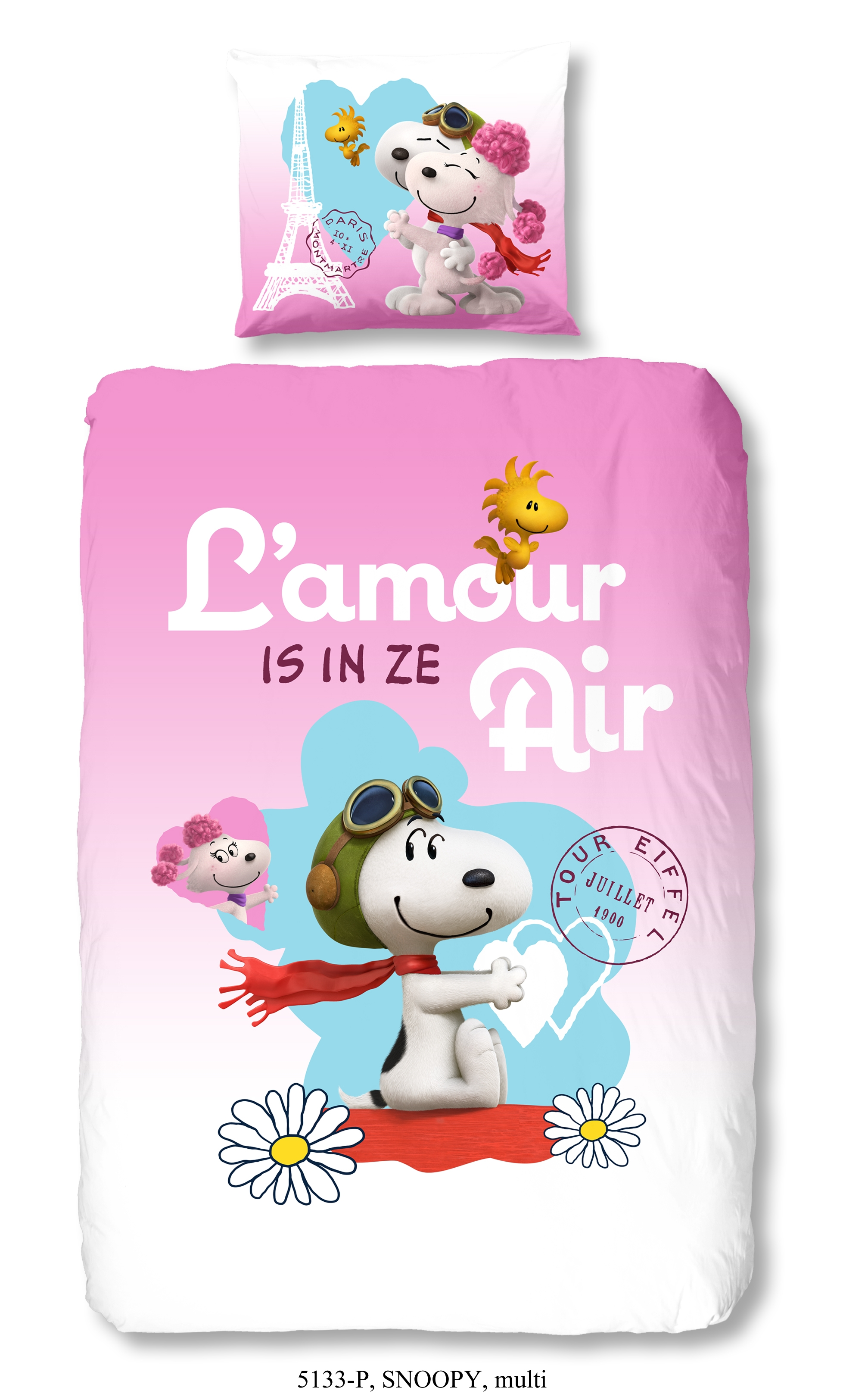 Snoopy Dekbedovertrek L'Amour