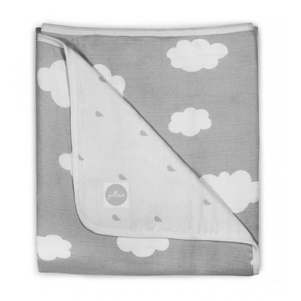 Jollein Deken hydrofiel 75x100cm Clouds grey
