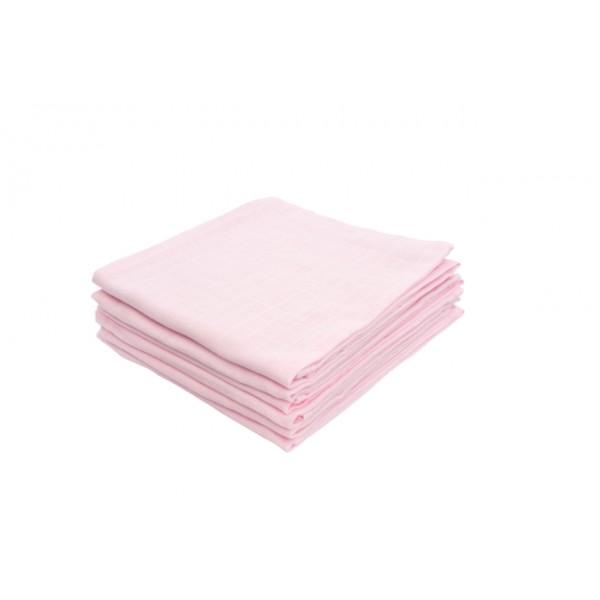Jollein Hydrofiel luier 70x70cm roze (6stuks)