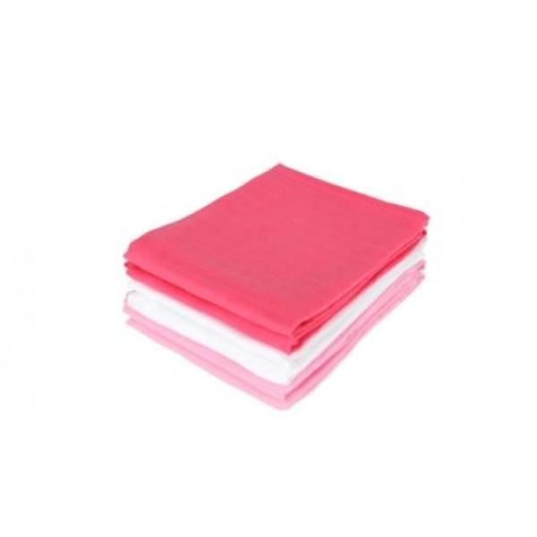 Jollein Hydrofiel luier fuchsia/roze/wit (6stuks)