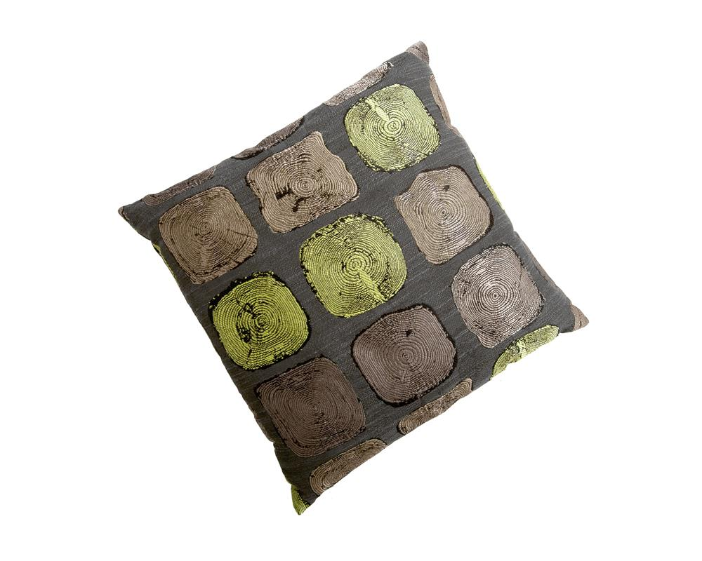 Home Living Sierkussen Wood Jacquard Lime