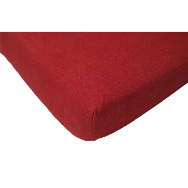 Jollein Hoeslaken Badstof 70x140cm rood