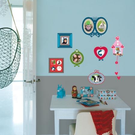 Kidslab Muurstickers Fotolijstje Colour