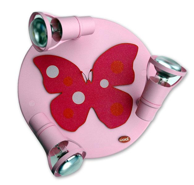 Plafondspot Vlinder Roze