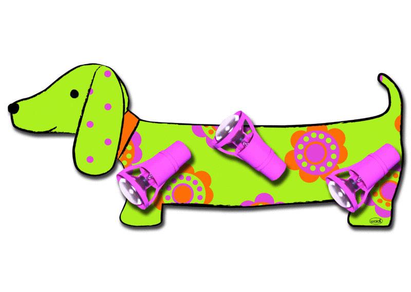 Plafondlamp Teckel Hond Groen