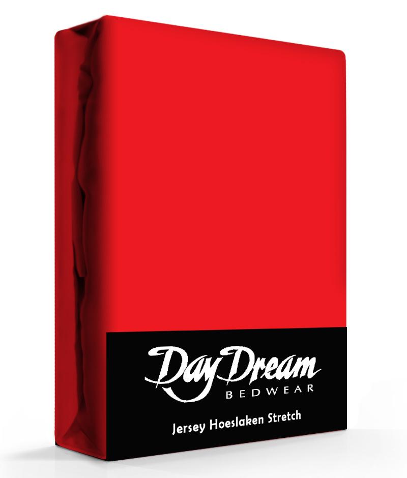 Jersey Hoeslaken Rood-90 x 200 cm