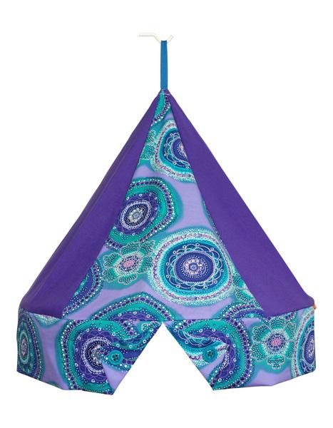 Klamboekroon Circels Aqua/paars