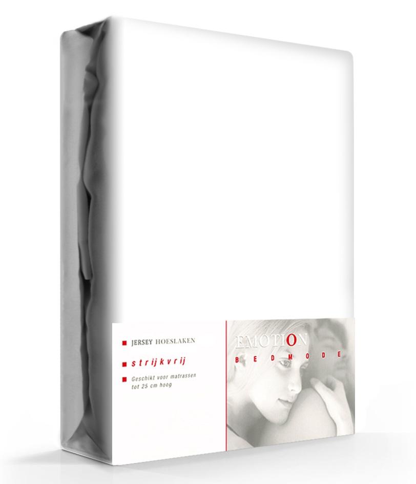 Hoeslaken Katoen Strijkvrij Wit-90 x 200 cm