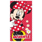 Badlaken Mickey Mouse Minnie rood dots