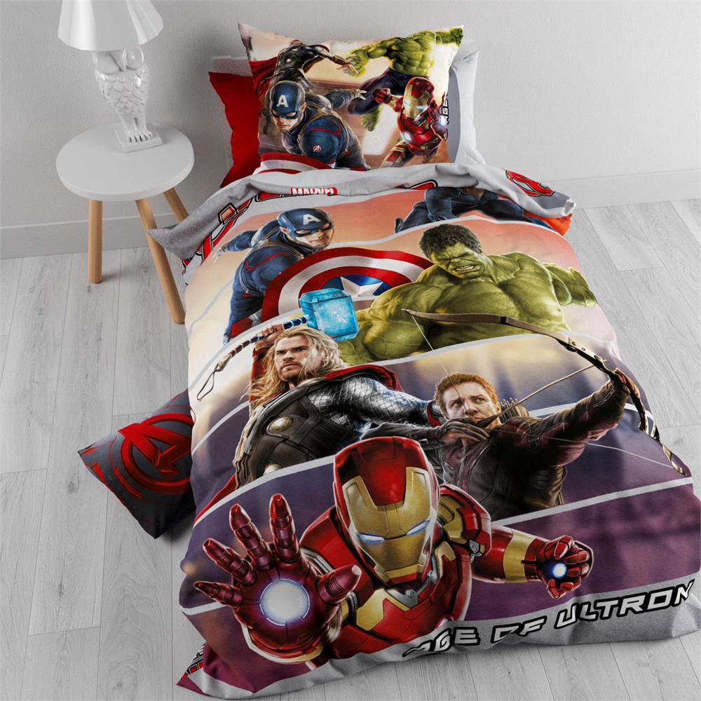 Avengers Flanellen Dekbedovertrek