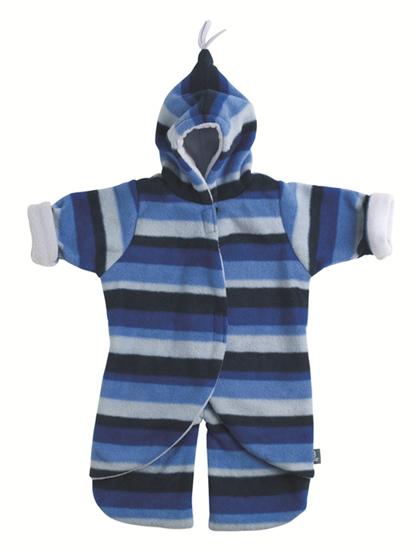 Split Voetenzak Blue Stripe 0-6mnd
