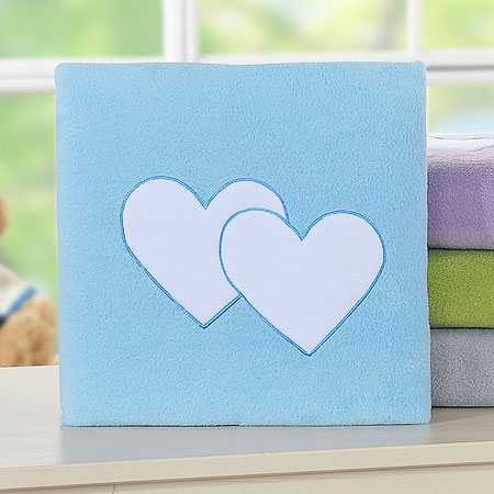 My Sweet Baby Deken 'Two Hearts' Blauw