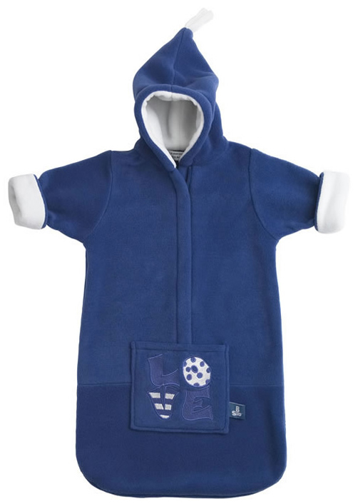 Baby Voetenzak Love Emd Blue Fleece
