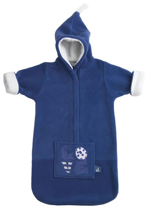 Baby Voetenzak Love Emd Blue Fleece