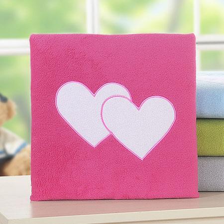 My Sweet Baby Deken 'Two Hearts' Fuchsia
