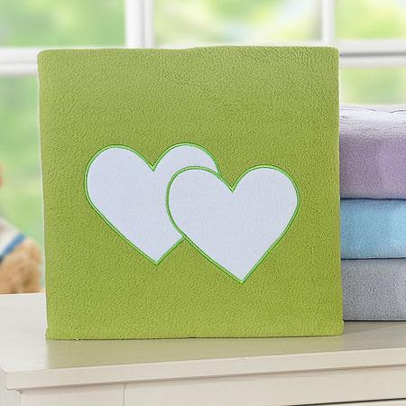 My Sweet Baby Deken 'Two Hearts' Groen