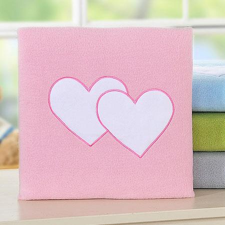 My Sweet Baby Deken 'Two Hearts' Roze