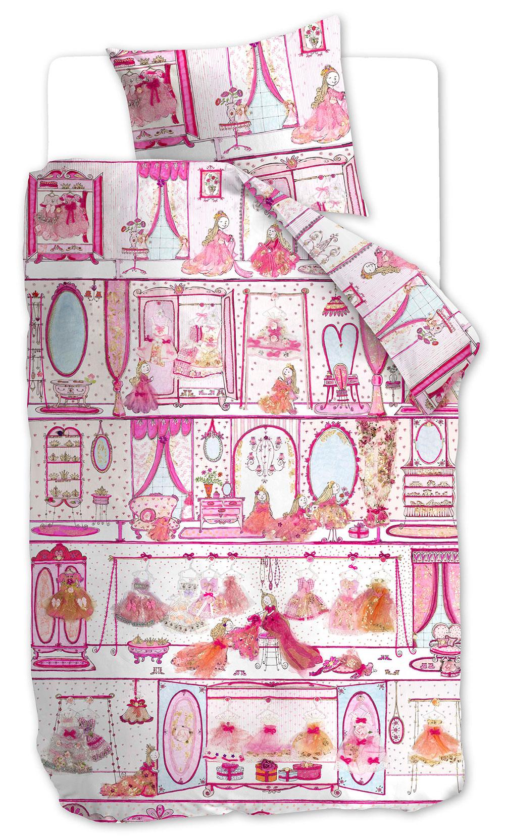 Beddinghouse Kinderdekbedovertrek Princess Wardrobe Pink