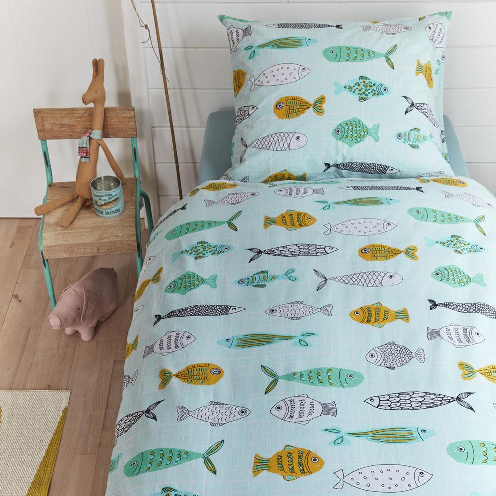 Beddinghouse Kids Fishy Dekbedovertrek