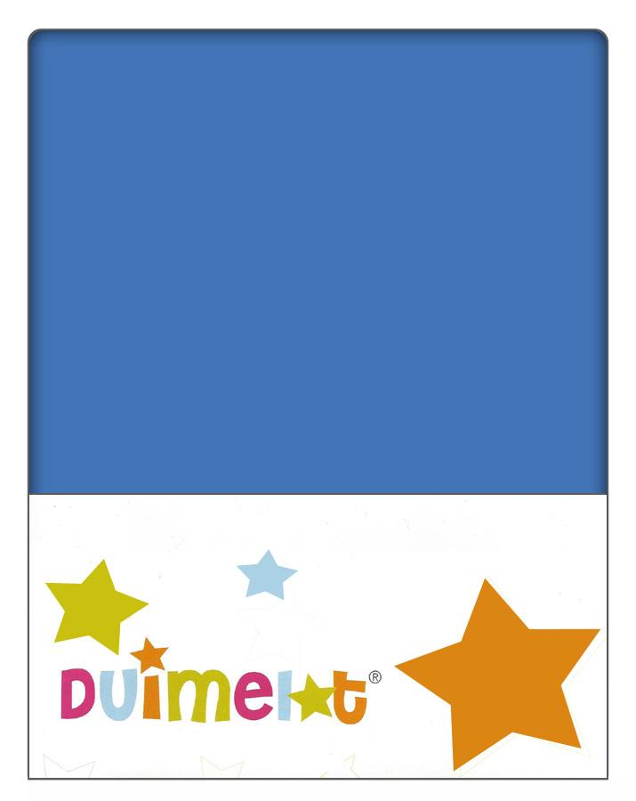 Duimelot Velours Hoeslaken Blauw