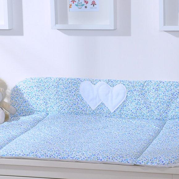 My Sweet Baby Aankleedkussen Two Hearts Bloem-Blauw