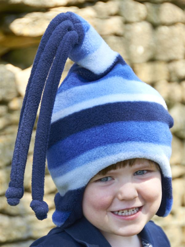Buggy Snuggle Kindermuts Blue Stripe Loopy S