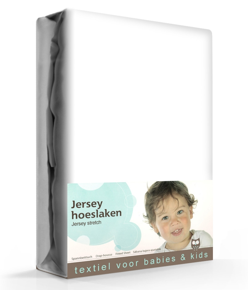 Briljant Hoeslaken Jersey 40x80 cm Wit