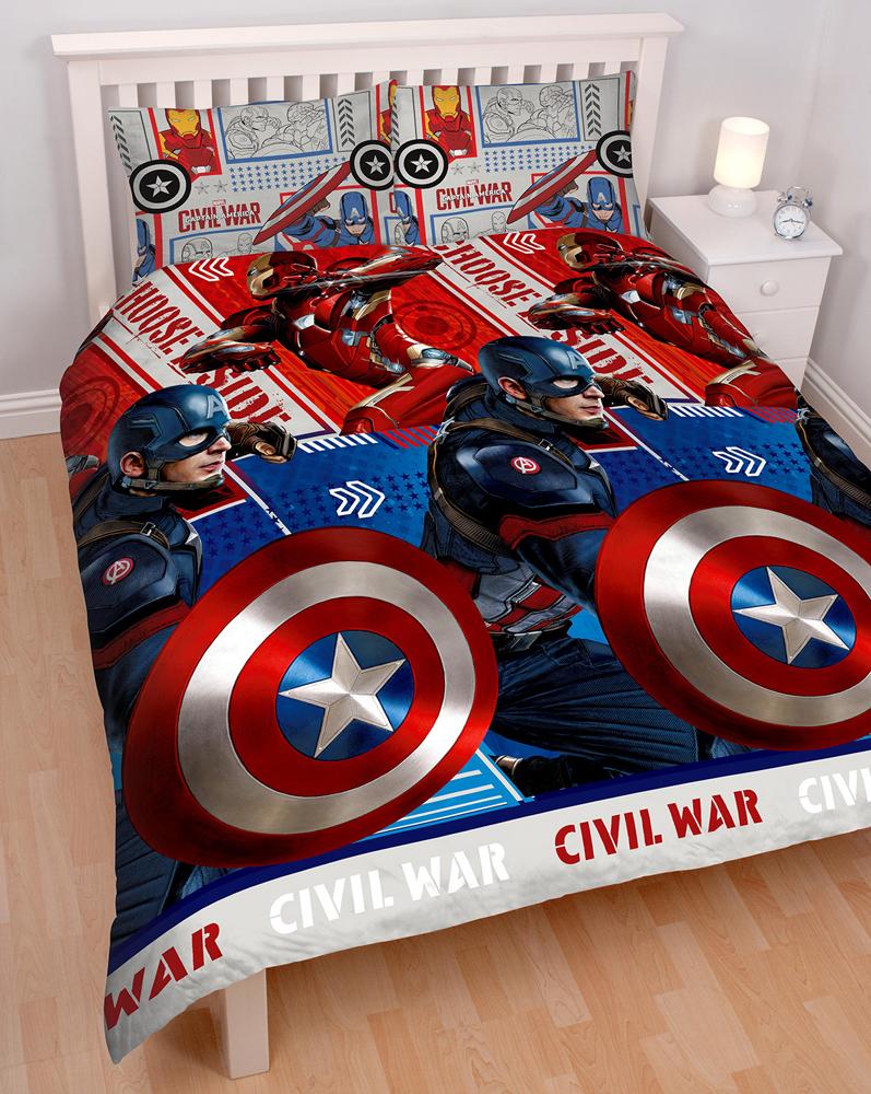 Captain America Dekbedovertrek 200x200cm