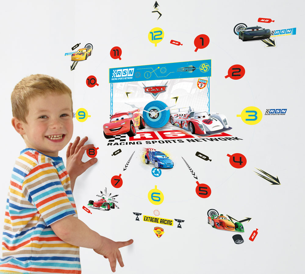 Cars Klok met Stickers
