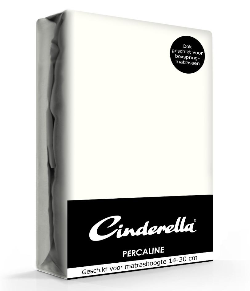 A-Keuze - Cinderella Hoeslaken Percaline Optiform Ivory-90 x 220 cm