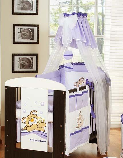 My Sweet Baby 3 delig Set Teddybeer Voile Paars