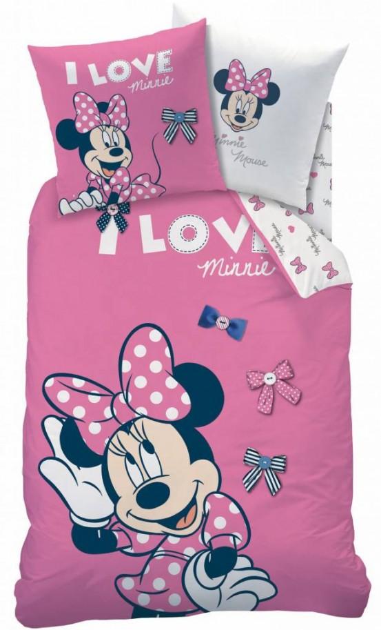 Minnie Mouse Stylish Rose Dekbedovertrek