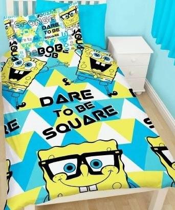 SpongeBob Dekbedovertrek Happy